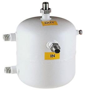 Condensatore ad acqua a serpentina verticale Aspex